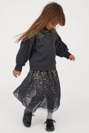 girls-black-tulle-sequin-skirt