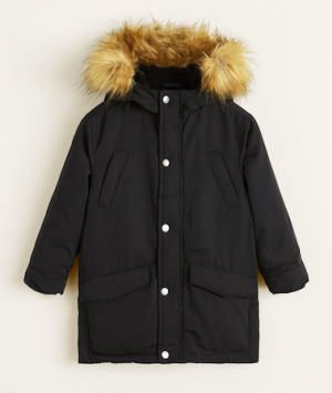 kids-black-feather-down-hooded-coat