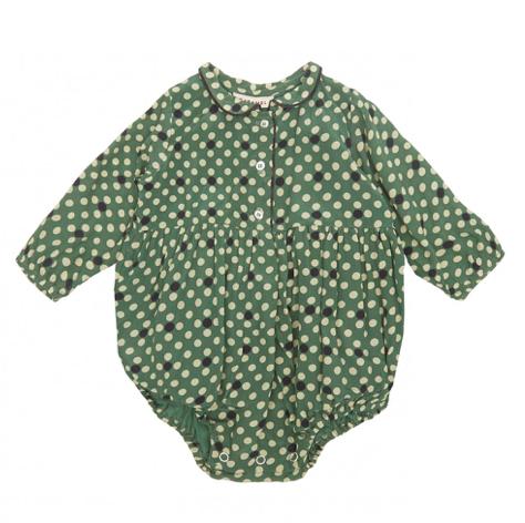 green-baby-romper