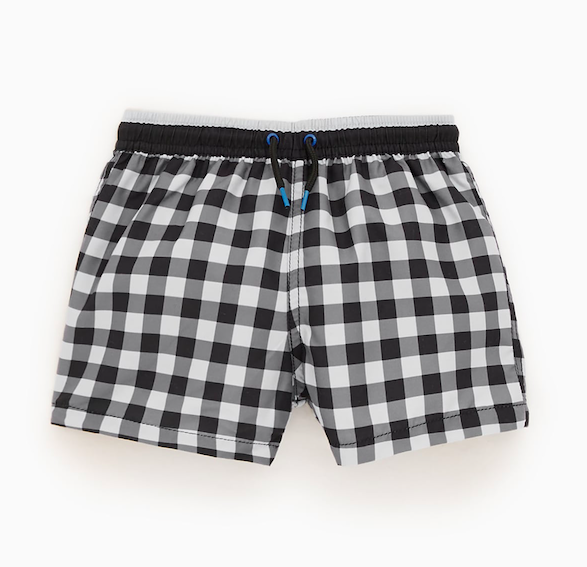 gingham-swim-shorts