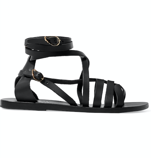 black-lace-up-sandals
