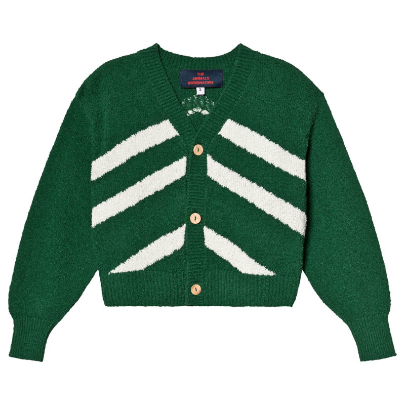 green-striped-cardigan