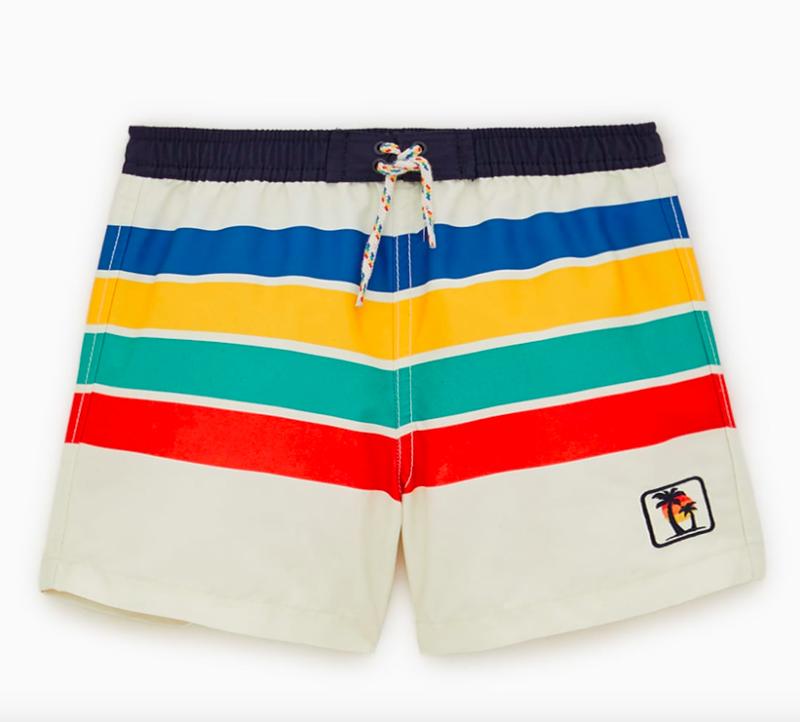 rainbiow-stripe-swim-shorts