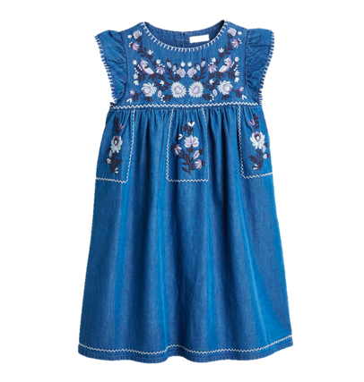 denim-embroidered-dress