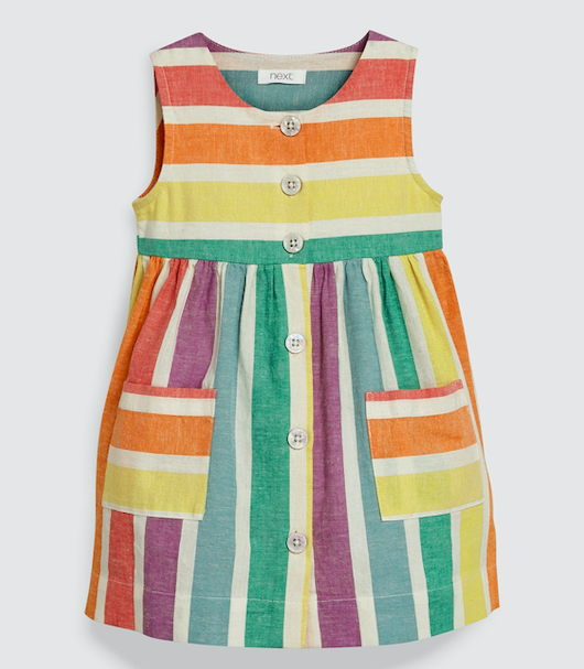 striped-girls-dress
