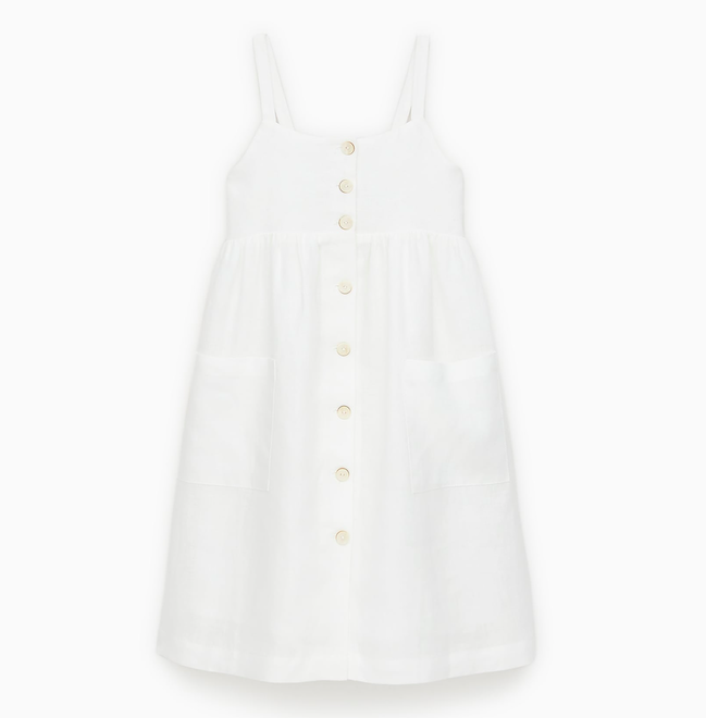white-linen-button-down-dress