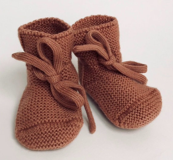 brick-knit-baby-booties