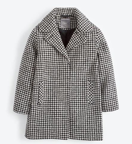 girls-monochrome-check-smart-coat
