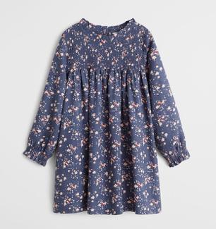 blue-floral-print-dress