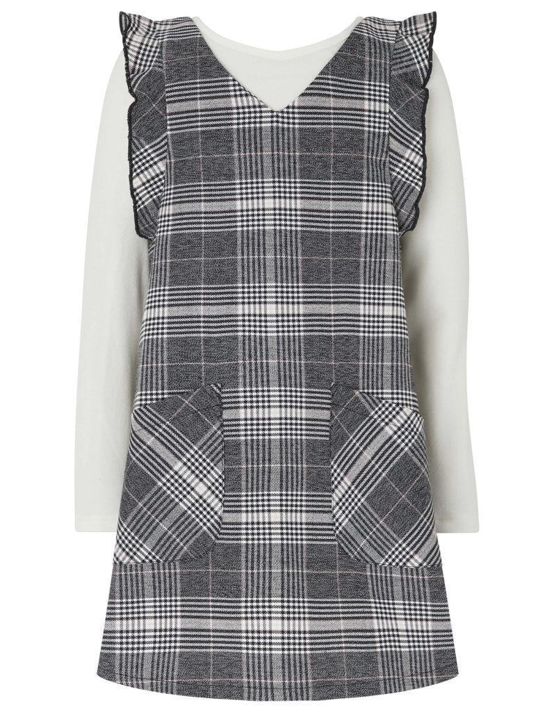 girls-check-dress-set