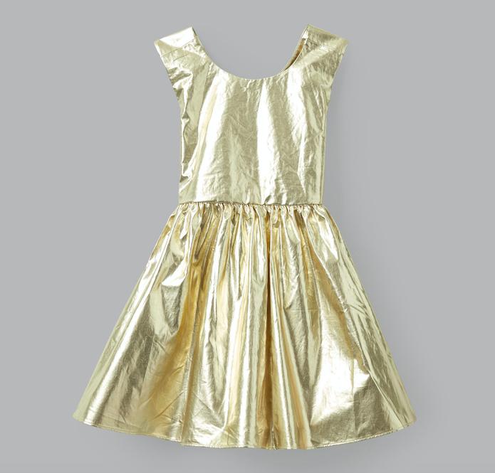 gold-metallic-party-dress
