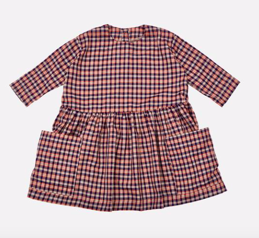 navy-check-cotton-pocket-dress