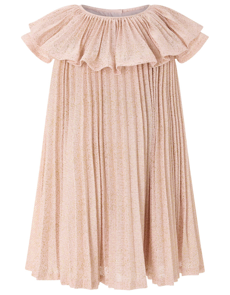 baby-pink-shimmer-pleat-dress