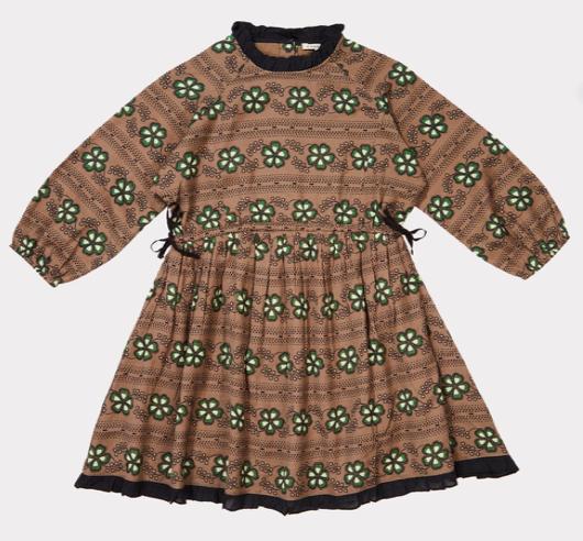 printed-frill-collar-dress