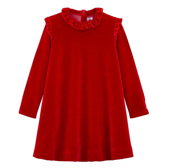 red-velvet-frill-dress