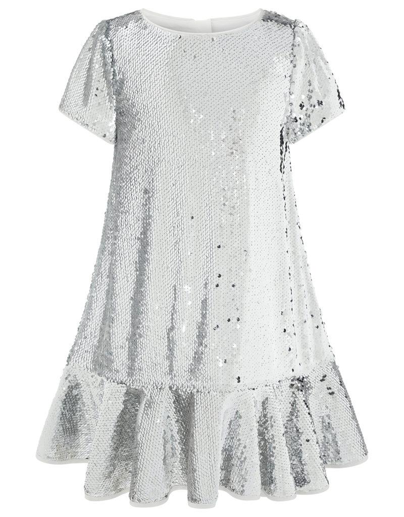 silver-sequin-ruffle-dress