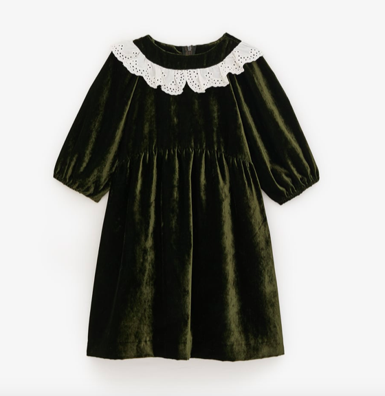 velvet-lace-collar-dress