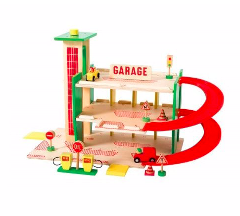 wooden-toy-garage