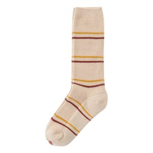 Beige striped socks