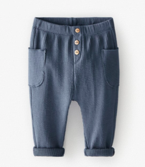 Blue ribbed trousers