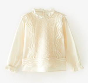 Ecru lace vintage style blouse