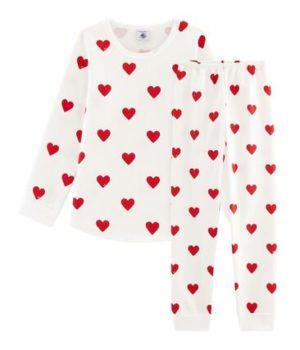 Heart print kids pyjamas