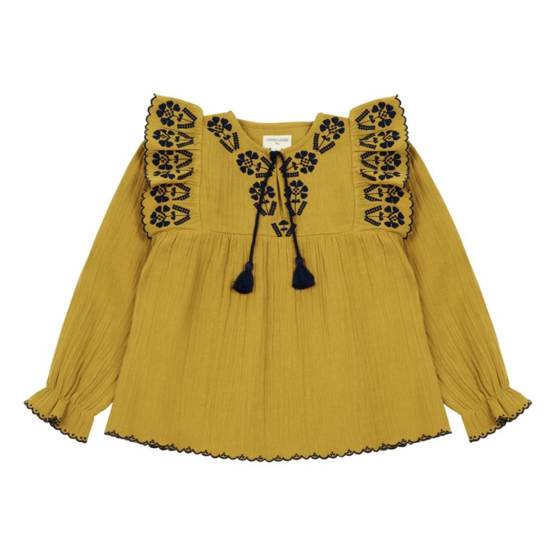 mustard-embroidered-blouse