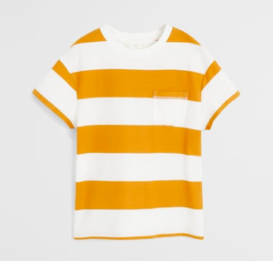 Striped organic cotton T-shirt