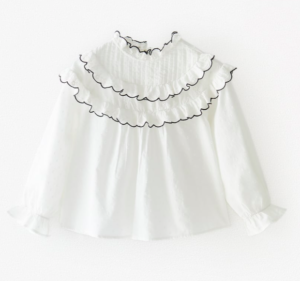 Contrast stitch blouse
