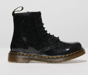 Black glitter boots