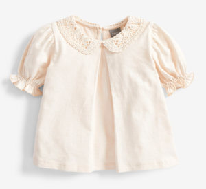 Cream broderie collar blouse