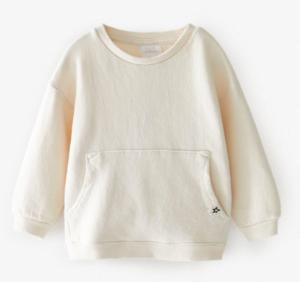 Ecru pocket sweatshirt