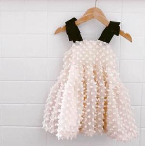 Cream tulle dress