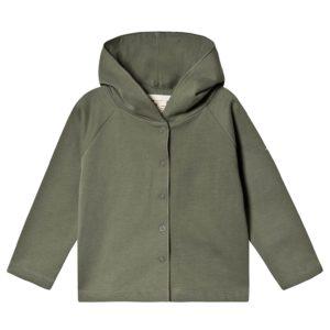 Green hooded cardigan