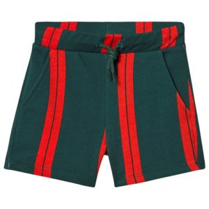 Green stripe sweat shorts