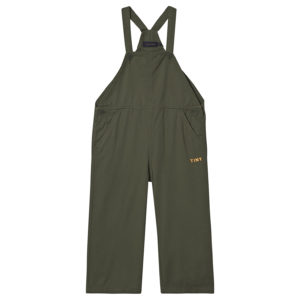 Olive green dungaree jumpsuit