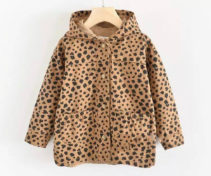 Cheetah raincoat