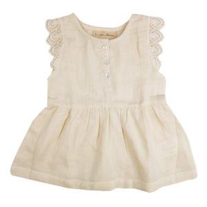 Organic cotton lace dress