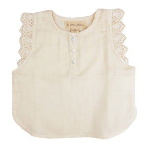 Cotton and lace baby top