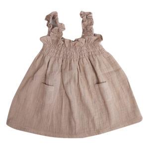 Dusty pink smocked dress