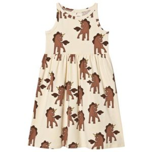 Unicorn print jersey dress