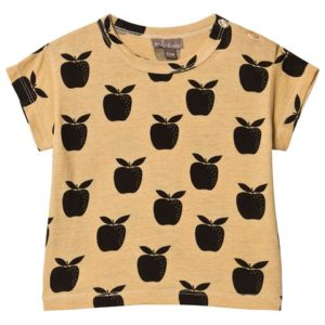 apple print t-shirt