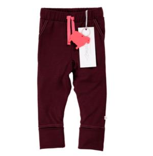 Berry merino trousers