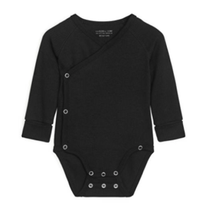 Black ribbed baby bodysuit