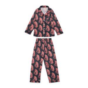 Tiger print black pyjamas