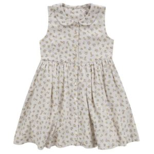 buttercup floral sleeveless collar dress