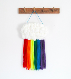 Rainbow cloud wall hanging