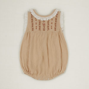 Embroidered baby romper
