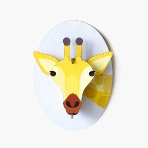 Giraffe cardboard animal head