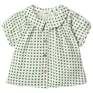 green dots baby blouse